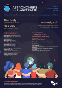 EAS 2021 special session 30: Astronomy for planet Earth